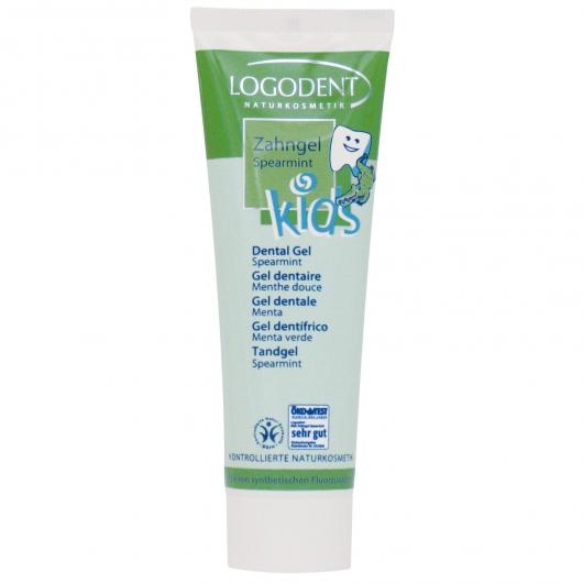 Creme dental de hortelã Kids Logona, 50 ml
