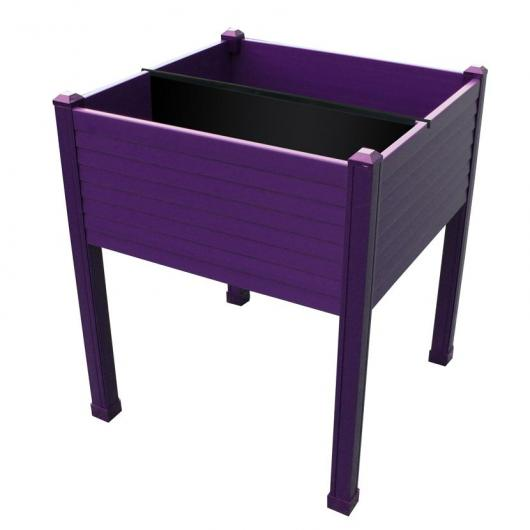 Table de culture en plastique couleur aubergine