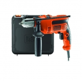 Perceuse à percussion 710 W + mallette et 5 forets Black & Decker