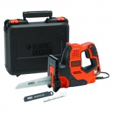 Scie Scorpion 500 W AutoSelect + 3 lames et mallette Black&Decker