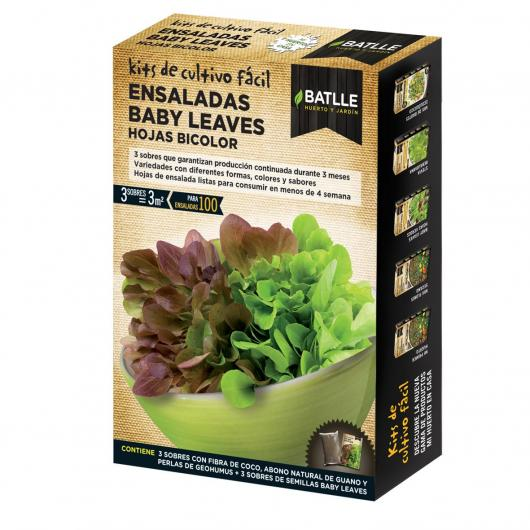 Kit Ensalada baby leaves Hojas Bicolor