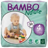 Couches Bambo Nature 6 -18 kg, 30 pièces