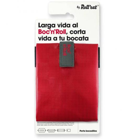Porte sandwich réutilisable Boc'n'Roll SQ rouge
