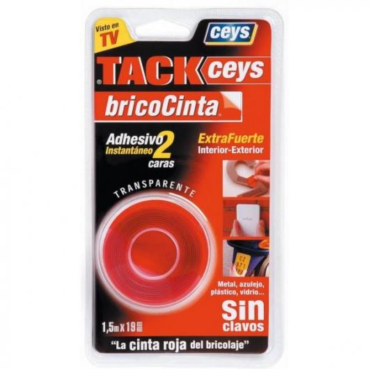 Bricocinta transparente Tackceys 1,5 m 19 mm