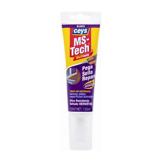 Adhésif-mastic Ceys MS-Tech turbo blanc 125 ml