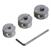 Wolfcraft 2755000 - 3 topes de profundidad para brocas Ø 6, 8, 10 mm