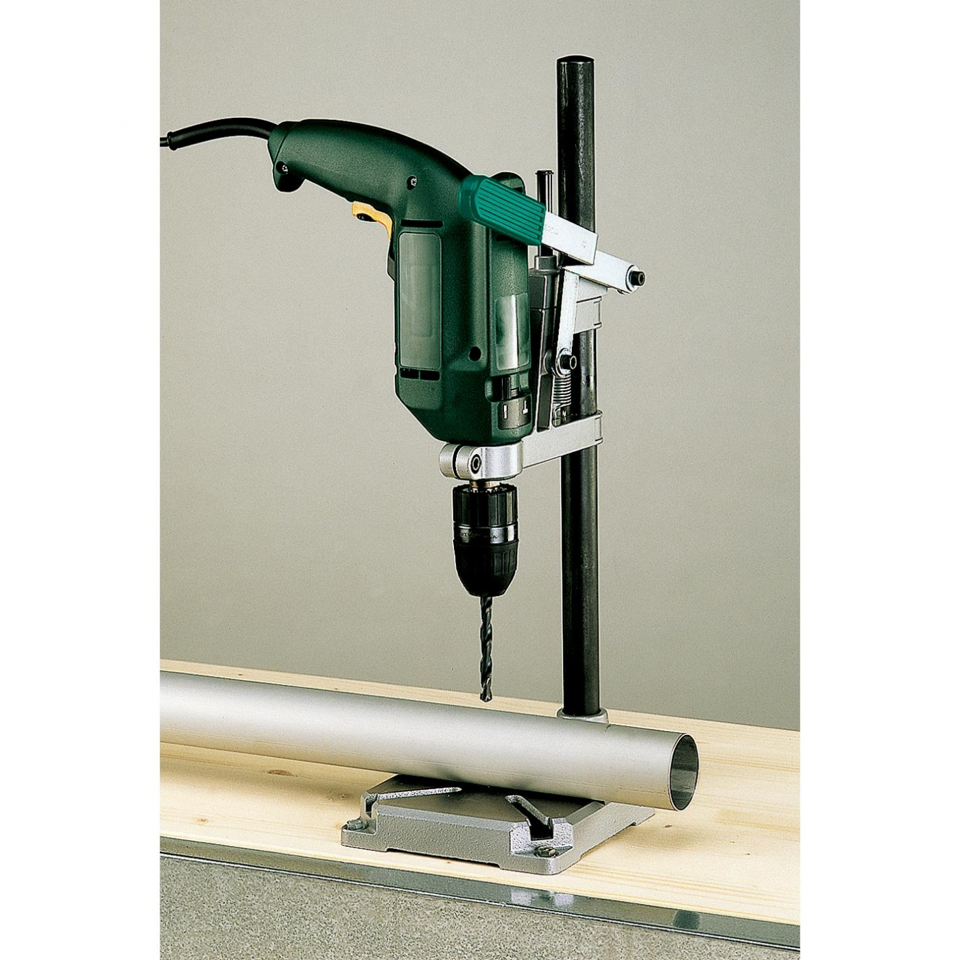 Wolfcraft drill stand with round pillar for on for Un stand