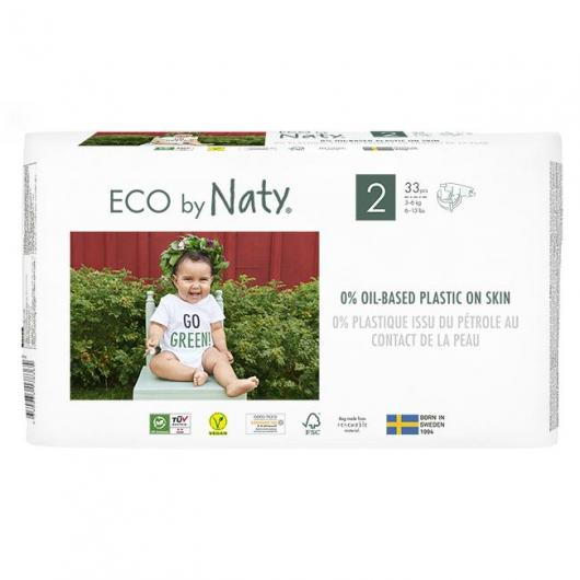 Couches n°2 Naty 3-6 kg, 34 pièces