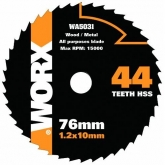 Disco multiúsos Worx de Ø 76 mm y 44 dentes