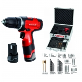 Lit trapano a batteria Einhell TH-CD 12-2 Li con valigetta di alluminio, accessori e due batterie